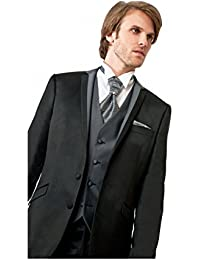 Costume Mariage Homme gris anthracite 3 pièces 2 boutons