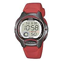 Casio Womens Quartz Watch, Digital Display and Resin Strap LW-200-4A