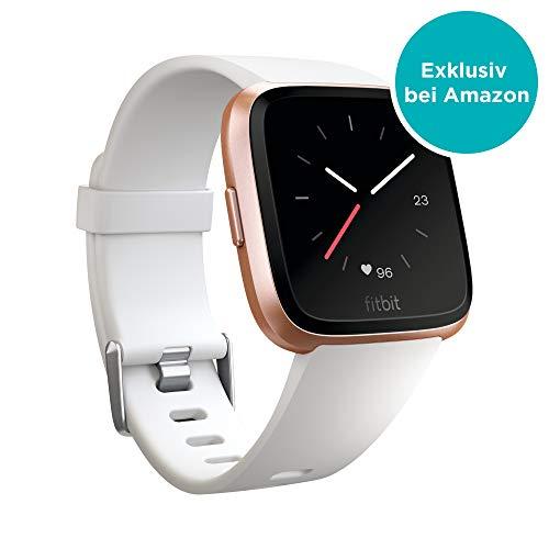 Fitbit Versa, Gesundheits & Fitness Smartwatch mit Herzfrequenzmessung, 4+ Tage Akkulaufzeit & Wasserabweisend bis 50 m Tiefe, Weiß E-mail Bluetooth