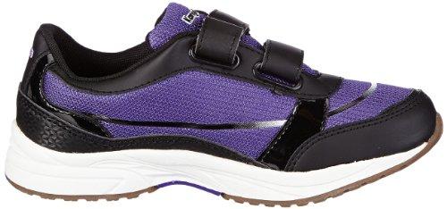 KangaROOS Tony 1200A, Sneaker bambina Nero (Schwarz (black/violet/white))