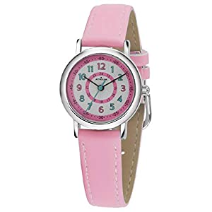ATRIUM Kinder-Armbanduhr Mädchen Analog Quarz 5 Bar Metall Lederimitat A31-104