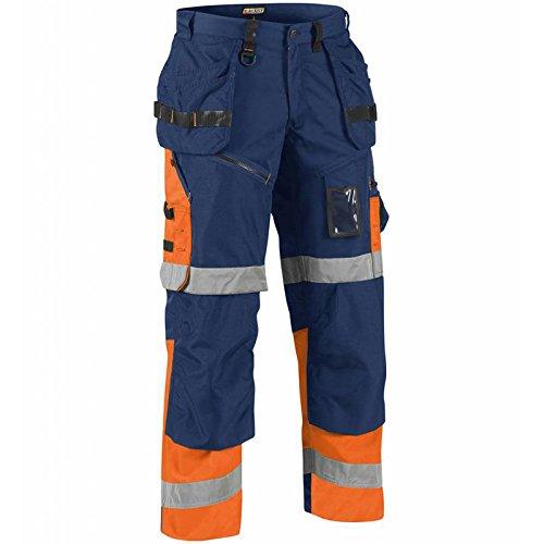 Preisvergleich Produktbild Blakläder 150818608953C52X1500High Schrauben Hose Klasse 1, Gr. C52Marineblau Blau/Orange