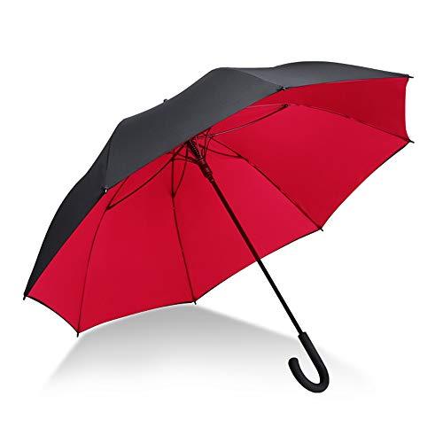 KIAYI 47 Inch Manuell Öffnen Golf Schirme Große Doppelt Winddicht Wasserdichte Stock Regenschirme -