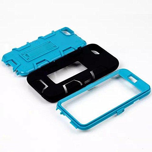 iPhone 6s Case, iPhone 6 cas, Hard Case Lantier hybride Heavy Duty avec disque Rugged PC + Outer Cover Shell silicone avec béquille pour Apple iPhone 6 / 6S 4,7 pouces (Hot Pink Silicone / Bleu) Hot Pink Silicone/Blue