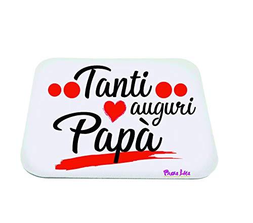 Mouse Pad Rettangolare Tappetino pc Scritta Tanti Auguri papà Regalo Festa Papa
