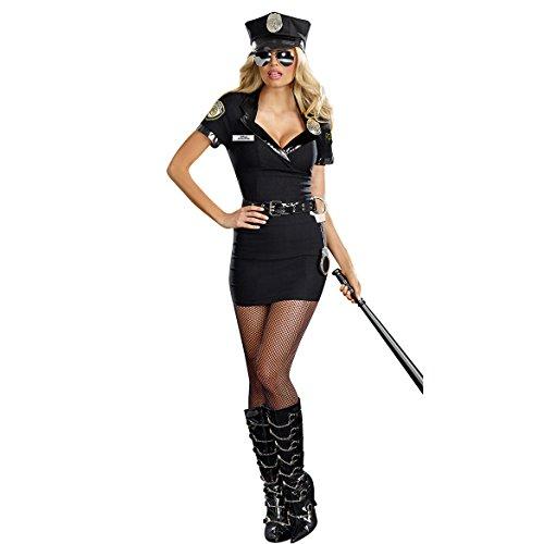 Gorgeous Halloween Uniformen Polizistin Rollenspiel neue Spiele -Kleid-Kostüm
