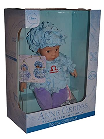 Anne Geddes Zodiaque Collection Libra Balance Baby Doll Poupee - Bean Filled Soft Body