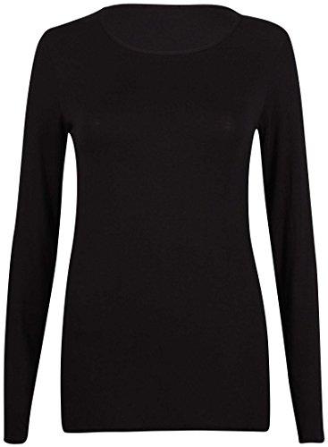 Gildan 64400L Softstyle Damen Ringspun Langärmeliges T-Shirt - Schwarz, 40-42 -
