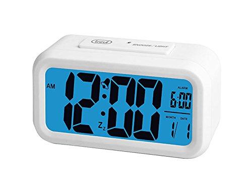 Trevi SLD 3068 Sveglia digitale, 12/24 ore, ampio display LCD, bianco