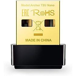 TP-Link Archer T2U Nano Clé WiFi AC 600 Mbps, adaptateur USB wifi, dongle wifi, compatible avec Windows 10/8.1/8/7/XP, Mac OS X 10.9-10.13