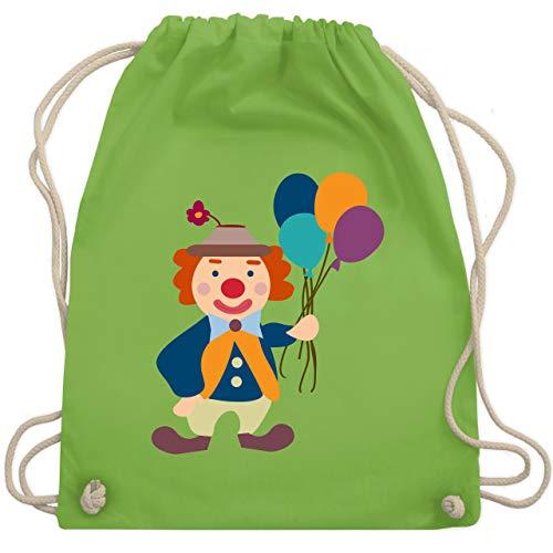 Kind Klassische Kostüm Clown - Bunt gemischt Kinder - Clown Luftballons - Unisize - Hellgrün - WM110 - Turnbeutel & Gym Bag