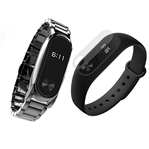 TaslarTM-Premium-Design-WITH-Screen-Protector-Guard-Replacement-Strap-Accessories-Bands-Wrist-Strap-For-Xiaomi-MI-Band-2-Smart-Activity-Tracker