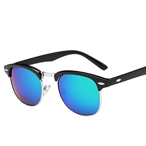 Damen Herren Mirrored Sonnenbrille,Ronamick Kunststoff Brillen Draussen Sunglasses (G)