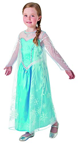 Fancy Ole - Mädchen Girl Kinder ELSA Frozen Deluxe Kostüm mit Prinzessinnenkleid und Cape, perfekt für Karneval, Fasching und Fastnacht, 98-104, ()