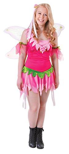 3Flower Fairy Erwachsene Kunden, Damen, klein (Flower Fairy Kostüm)