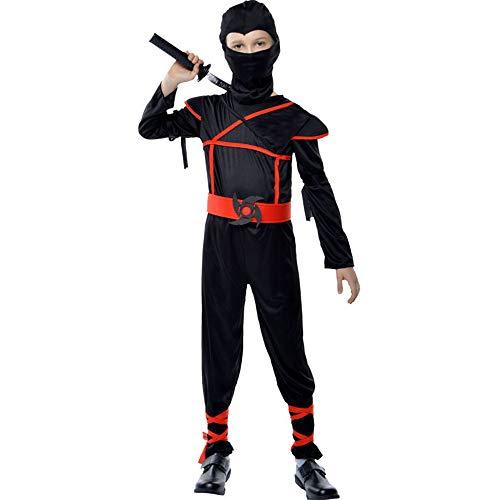 Halloween Kostüm Halloween-Umhang - Polyester, männliches Ninja-Maskeradekostüm der Kinder, verwendbar für Feiertagsaufführungen, COS-Parteien, Halloween, eine Vielzahl der Arten - Ninja Männliche Kostüm