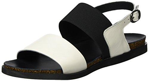 LiliMill Damen Vanda Slingback Sandalen Weiß (LATTE)