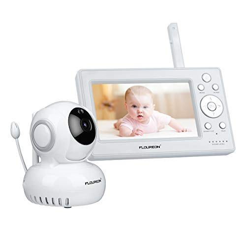 5-zoll-kameras (FLOUREON Babyphone mit Kamera Digital Video Baby Monitor (5,0 Zoll))