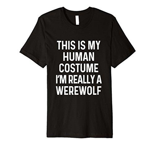 Funny Werwolf Kostüm Shirt Halloween Männer Frauen -