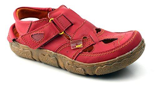 TMA Eyes Leder Sandalette Damenschuhe Sandalen 7088 Rot