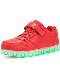 Aizeroth-UK LED Zapatos Verano Ligero Transpirable Bajo 7 Colores USB Carga Luminosas Flash Deporte de Zapatillas con Luces Los Mejores Regalos para Niños Niñas Cumpleaños …
