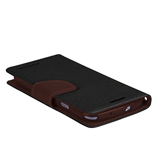 BRAND FUSON(TM) Mercury Fancy Diary Wallet Flip Cover For Lenovo K3 / A6000 /A6000 Plus – Black Brown…