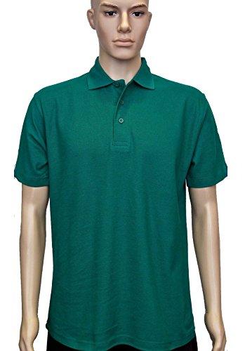 Uneek, UC101polo classica unisex in misto cotone e poliestere, con colletto lavorato a maglia e maniche con orlo Verde - Kelly green