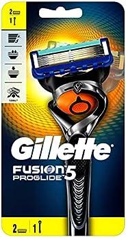 Gillette Fusion ProGlide men's razor with Flexball Handle Technology and 2 Razor Blade Ref