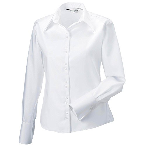 Russell Collection Women's Long Sleeve Ultimate no - White - UK 8 / US 4 / EU 36 -