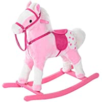Homcom Schaukelpferd Kinder Schaukeltier Pl¨¹sch Schaukel Pferd Baby Schaukelspielzeug Geschenk f¨¹r Kinder (Rosa) preisvergleich bei kleinkindspielzeugpreise.eu
