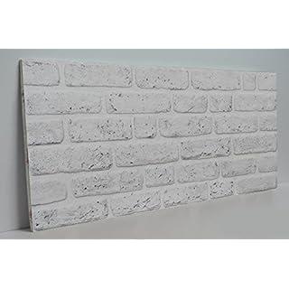 Steinoptik Wandverkleidung für Wohnzimmer, Küche, Terrasse oder Schlafzimmer in Klinkeroptik Look.   100cm x 50cm (ST 115)