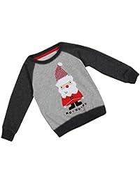 Ouneed® Cute Boy Santa Claus Winter Tops Outwear Pullover Sweatshirt Warm