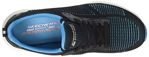 Skechers Bobs Squad-Twinning, Sneaker Infilare Donna Nero (Black/turquoise)