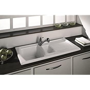 ceramic kitchen sink with drainer ceramic 1 5 bowl and drainer kitchen sink 8090