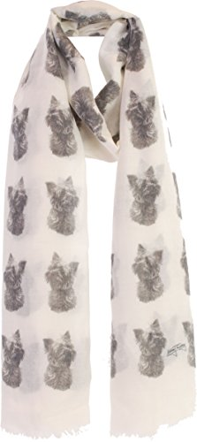Yorkshire Terrier gifts for women ladies scarf with dogs on - Exclusive Mike Sibley Fashion Scarf Signature Collection - Perfect Gift for Any Dog Lover - Hand Printed in the UK