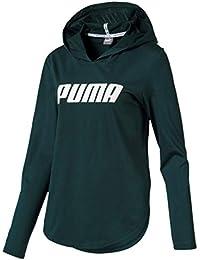 Puma Modern Sports Light Cover up Sudadera, Mujer, Verde (Ponderosa Pine),