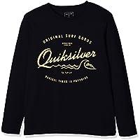 Quiksilver Ls ClassicYouth West Pier - Camiseta de manga larga para niño, color negro, talla S