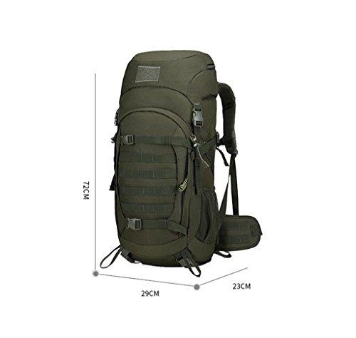 HWLXBB Outdoor Bergsteigen Tasche Männer und Frauen 50L Wasserdichte Mehrzweck-Bergsteigen Tasche Wandern Camping Bergsteigen Freizeit Rucksack Rucksack 3*