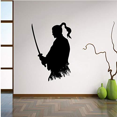 56X82cm Samurai Katana Wandtattoo Ninja Vinyl Aufkleber Japanischen Wohnkultur Ideen Wohnzimmer Interieur Wandkunst Schlafzimmer Wanddekor