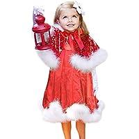 LANSKIRT Weihnachten Kinder Mädchen Party Tutu Kleid + Schal Weihnachten Set Outfit Babykleidung Satz
