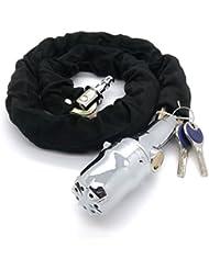 100cm Cadena Candado con alarma Moto Candado tanque Super Chain Acero Cadena Cerradura Lock
