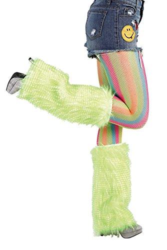 Karnevalsmanufaktur Flausch-Stulpen in verschiedenen Neonfarben, Plüschstulpen, ()