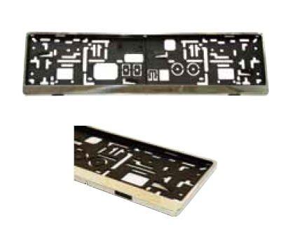 Preisvergleich Produktbild Edelstahl KFZ Kennzeichenhalter / Kennzeichenhalterung / Kennzeichenverstärker