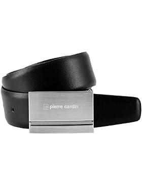 Pierre Cardin - Cinturón de cuero para hombre / cinturón para hombre pierre cardin, 70118 negro,