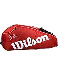 Wilson Federer Team Racket Bag - Red, 6 Litre