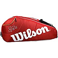 Wilson Federer Team Racket Bag - Red, 6 Litre