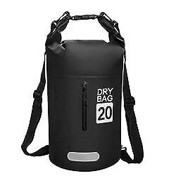 phixilin Dry Bag, Wasserdicht Tasche Waterproof Trockener Beutel mit Verstellbarer Schulterriemen Wasserfester Packsack für Kayaking Fischen Schwimmen Kampieren Snowboarding Wassersport
