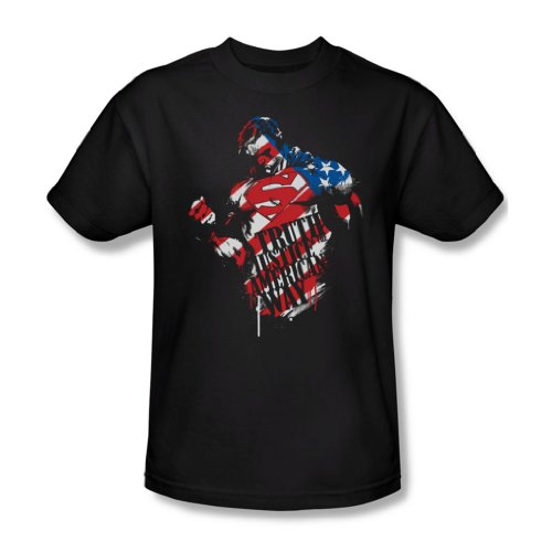 Superman - The American Way Adult T-Shirt in Schwarz, XXX-Large, Black -