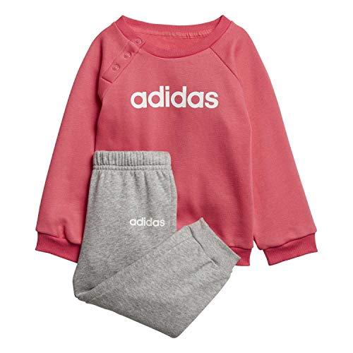 adidas Unisex-Kinder I Lin Jogg FL Trainingsanzug, rosrea/Brgrin/Weiß, 98