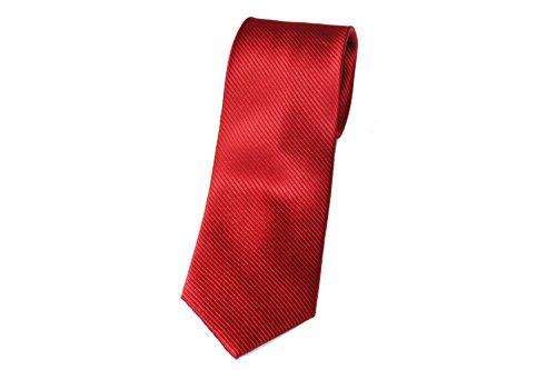 fabricada a mano 100/% seda el ep/ítome del lujo en calidad Pietro Baldini corbata color roja